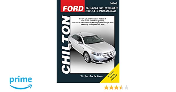 Ford taurus five hundred 2005 14 repair manual covers us and ford taurus five hundred 2005 14 repair manual covers us and canadian models of ford taurus 2008 through 2014 ford five hundredmercury fandeluxe Choice Image