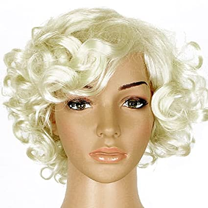 Hot moda 50 de Marilyn Monroe diseño de Blonde peluca disfraz