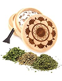 Acquisition Lotus Engraved Premium Natural Wooden Grinder Item # PW91316-15 occupation