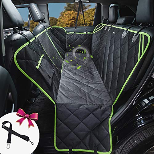 Back Seat Cover for Dogs Waterproof Durable Anti-Scratch Nonslip Back Seat Pet Protection Dog Road Trip Hammock with Mesh Window & Side Flaps 54' W x58 L(HYSC2)