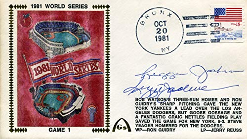 - Reggie Jackson Dual Autographed First Day Cover