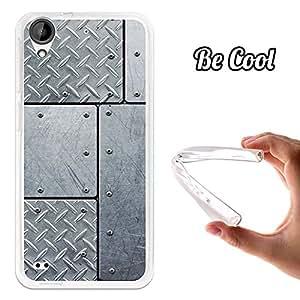 BeCool® - Funda Gel Flexible HTC Desire 530 Acero con Remaches Carcasa Case Silicona TPU Suave