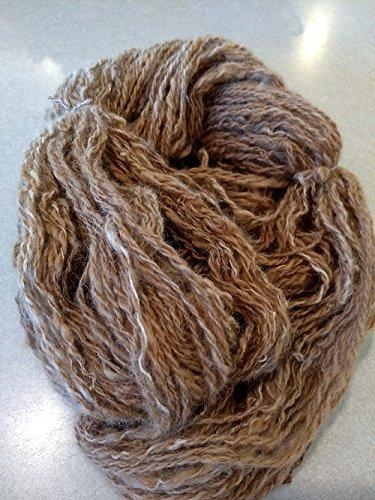 Handspun yarn- art yarn- alpaca yarn- Alpaca -1 skein 440 yds- knitting- knit- knitting supplies- crochet- felting- wool- (Handspun Alpaca)