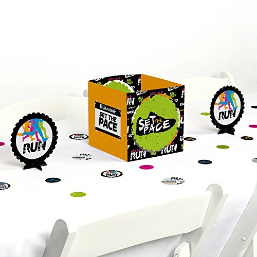 Big Dot of Happiness Set The Pace - Running - Track, Cross Country or Marathon Party Centerpiece & Table Decoration Kit (Country Dot)