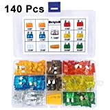 140 Pcs Car Standard Blade Fuse Assortment, 5A 7.5A 10A 15A 20A 25A 30A AMP Fuse