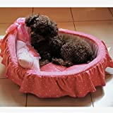Dingang Soft Warm Pet Dog Cat Puppy Princess Bed House Basket Kennel(little Pets Only) For Sale