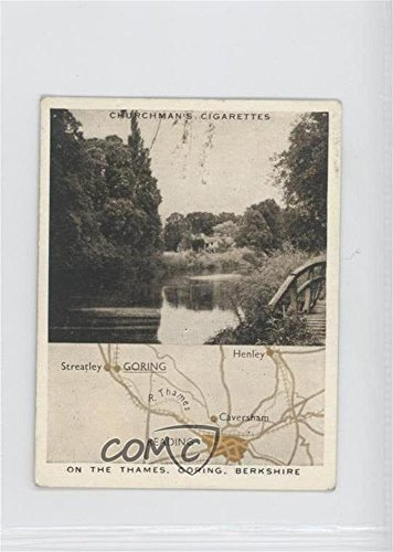 On the Thames, Goring, Berkshire COMC REVIEWED Good to VG-EX (Trading Card) 1937 Churchman's Holidays in Britain Map & Scene - Tobacco [Base] #12