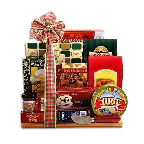The Ultimate Cutting Board Christmas Meat and Cheese Gift Basket