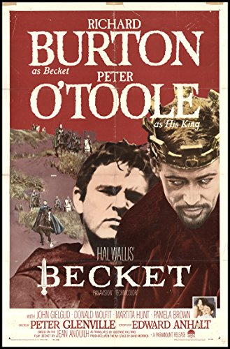 Becket 1964 ORIGINAL MOVIE POSTER Richard Burton Biography Drama History - Dimensions: 27