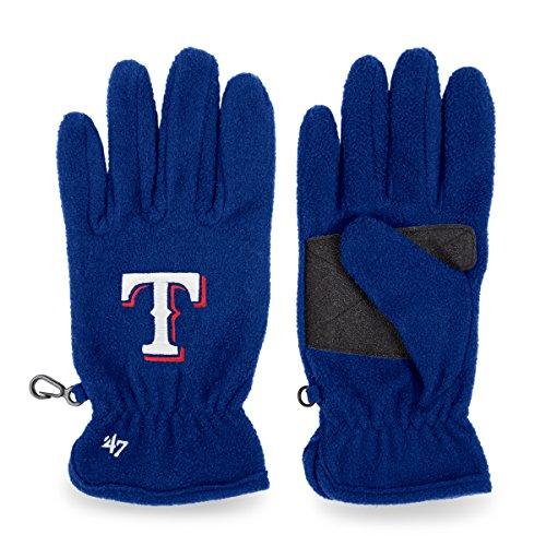 Fleece Texas Rangers Pullover - '47 MLB Texas Rangers Fleece Gloves, Royal, One Size
