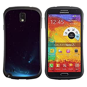 "Pulsar iFace Series Tpu silicona Carcasa Funda Case para Samsung Note 3 , Sky Aurora Borealis Azul Night Lights"""