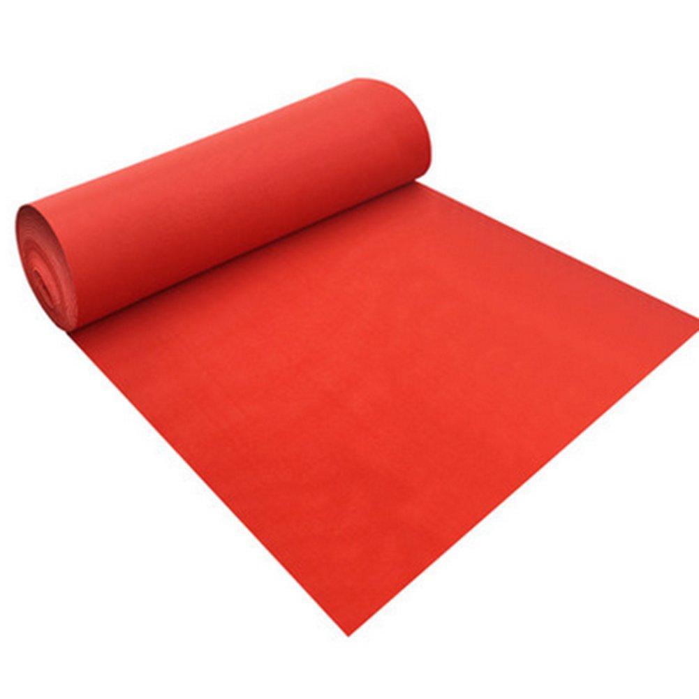 Jia He ウェディングランナー レッドウェディングカーペット祝賀行事ワンタイムラグ化学繊維用品-160g /m²、厚さ1.5mm、8サイズオプション @@ (サイズ さいず : 1m x 30m) 1m x 30m  B07QKQV142
