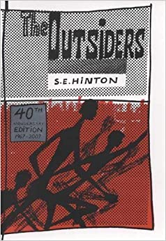 Who designed the cover of the outsiders book
