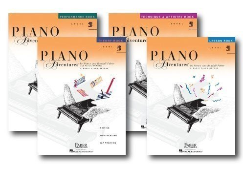 Faber Piano Adventures Level 2B Learning Library Pack Four Book Set - Lesson, Theory, Performance, and Technique & Artistry Books