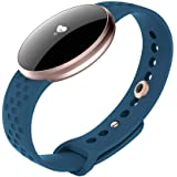 Niome Lady Smart Watch Bracelet with Heart Rate Monitor Fitness Tracker for Women Blue