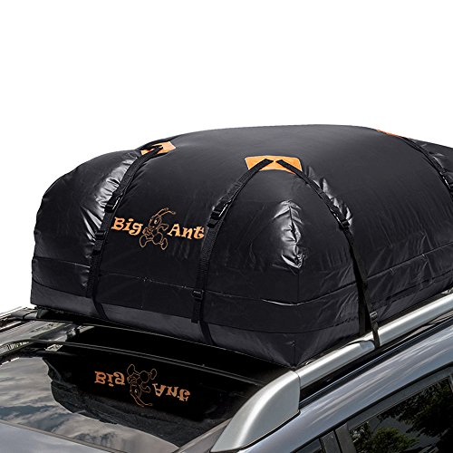 Cargo Bag, Waterproof Roof Top Cargo Carrier for Cars, Vans and SUVs (15 Cubic Feet) – Rainproof Nonslip for Travel or Off-Roading