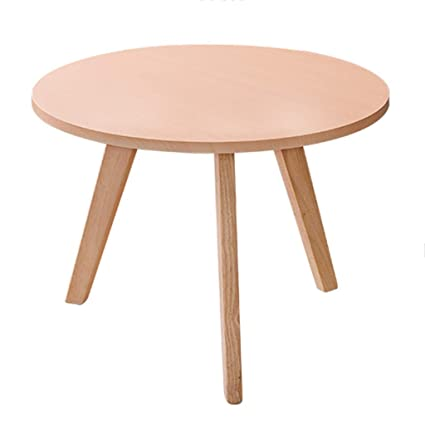 Amazon.com: Coffee Tables Wooden Round Small Bedroom Small Apartment ...