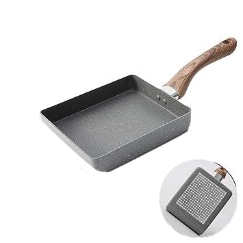 Plaza de antiadherente Sartén,Forjado aluminio inducción saltear parrilla cacerola sartén limpia fácil lavavajillas horno-A 15x18cm: Amazon.es: Hogar