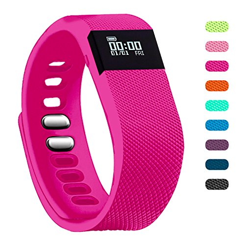 Fitness Tracker - Teslasz Bluetooth 4.0 Sleep Monitor Calorie Counter Pedometer Sport Activity Tracker for Android and IOS Smart Phone (Rose Pink)