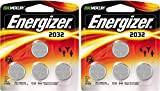 Energizer 2032BP-4 3 Volt Lithium Coin Battery - Retail Packaging (2 x Pack of 4)