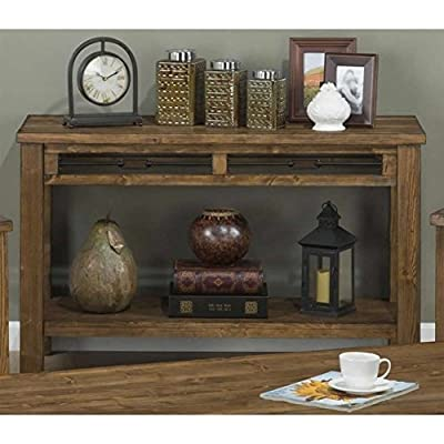 Jofran San Marcos Wood Rectangle Sofa Table in Pine