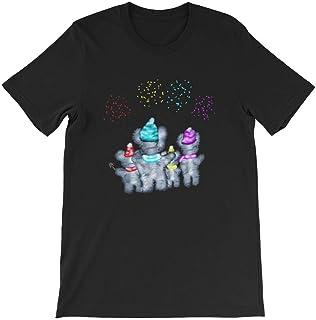 Cool Unisex Animal T-Shirt Koala Family Fireworks