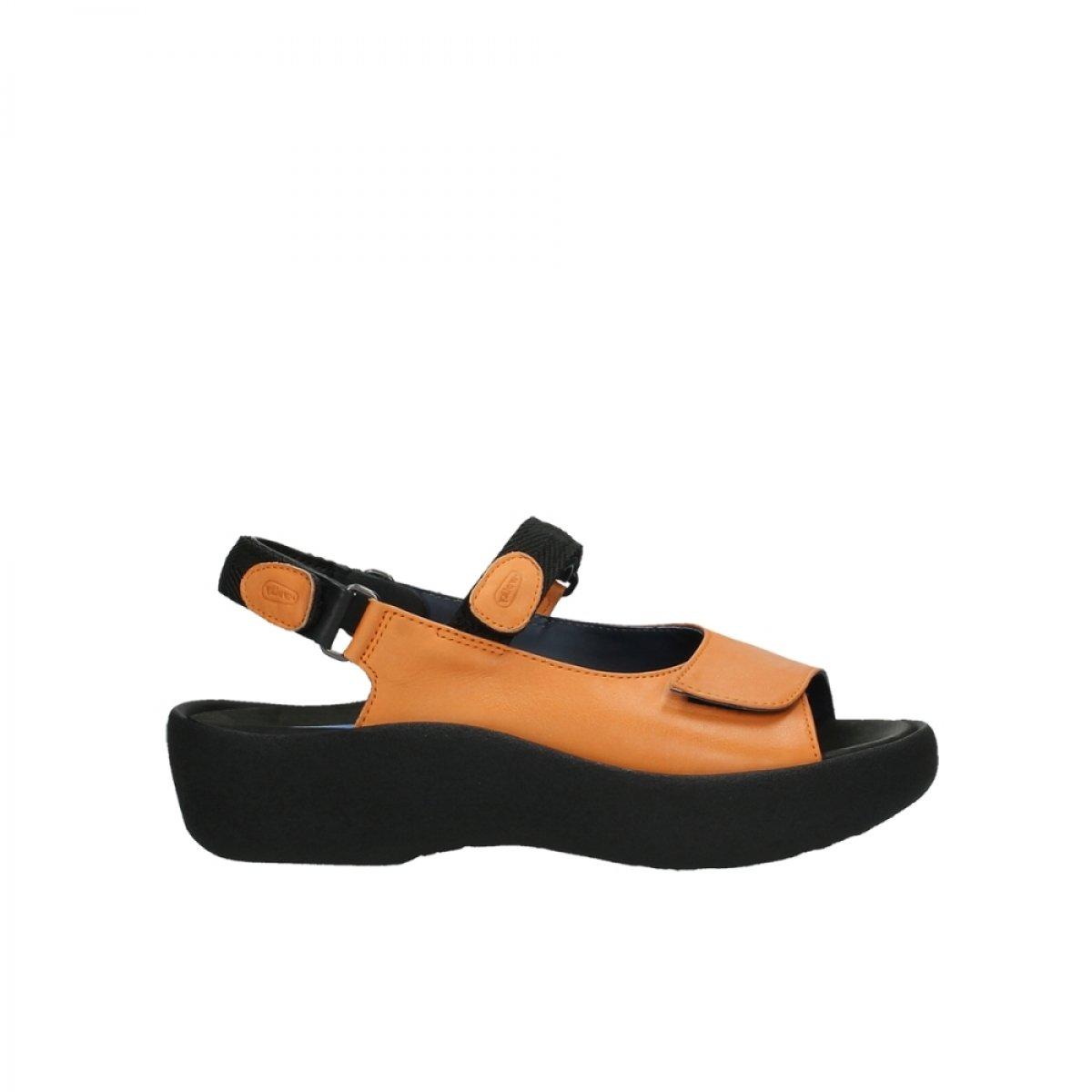 Wolky Womens 3204 Jewel Leather Sandals 44 EU|20550 Orange Leder
