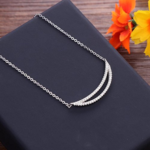 Sterling Silber halb Halbmond Halskette s925 Silber Frau Halskette