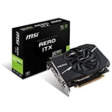 MSI Gaming GeForce GTX 1070 8GB GDDR5 SLI DirectX 12 VR Ready ITX Graphics Card (GTX 1070 AERO ITX 8G OC)