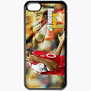 Personalized iPhone 5C Cell phone Case/Cover Skin Arsenal Henry Thierry Henry Football Black