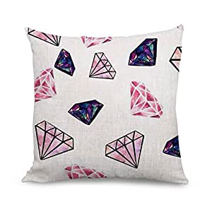 B Lyster shop S143S Diamond Pattern Cotton & Polyester Soft Zippered Cushion Throw Case Pillow Case Cover