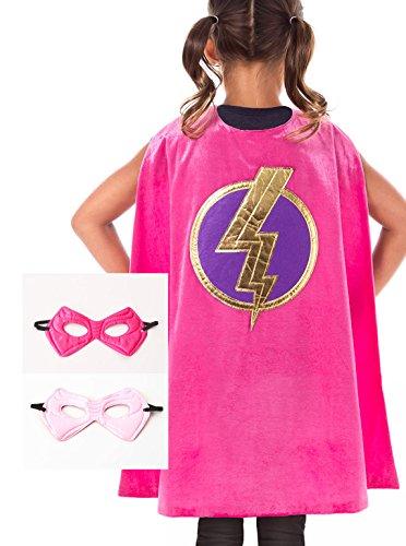 Little Girls Superhero Costumes (Little Adventures Super Hero Cape & Mask Set for Girls - Super Hero)