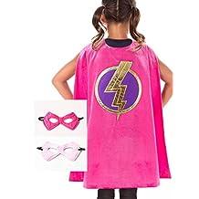 Little Adventures Super Hero Cape & Mask Set for Girls - Super Hero