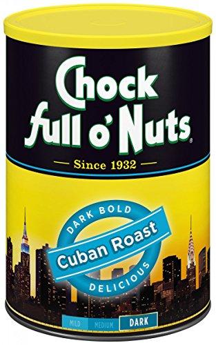 Chock Full O Nuts Coffee, Cuban Roast Ground, 10.5 Ounce