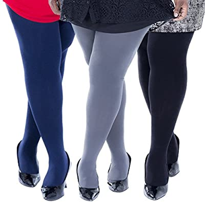 Zaftig Womens Plus Size Thermal Tights, Terry-lined Brushed Interior