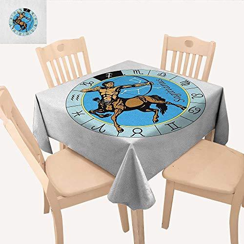 Design Gold Greek Square (longbuyer Zodiac Sagittarius Christmas Tablecloth Centaur Archer Shooting Arrow Mythical Greek Figure Constellation Design Square Tablecloth Multicolor W 54