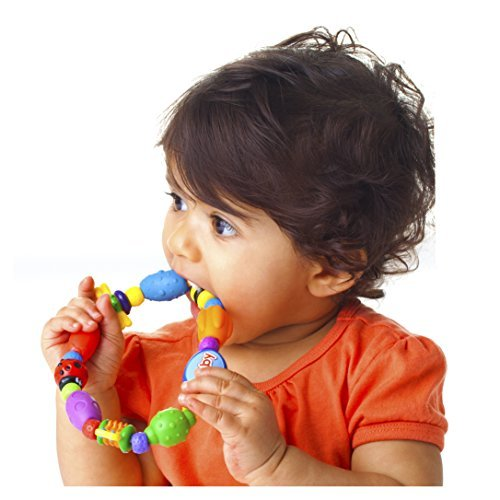 Nuby Bug A Loop Teether Beed, Colors May Vary