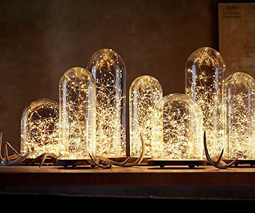 Battery Fairy Lights for Mason Jars, Center Pieces, wedding, fire fly, firefly, Christmas glimmer starry string lights ()
