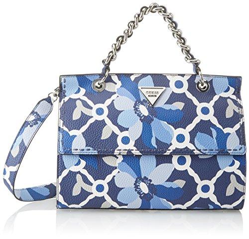 Guess Hobo, Borsa a Tracolla Donna, Multicolore (Blue Floral), 11x21.5x30.5 cm (W x H x L)