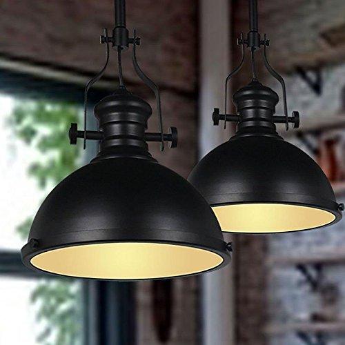 clásico Araña de metal industrial, mklot Ecopower Retro Colgante Industrial luz 32cm Amplia iluminación de...