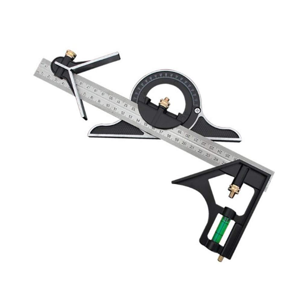 R/ègle dangle /à combinaison 300 mm Outil de mesure multifonction tube de mesure dangle r/églable Profondeur et hauteur et marquage