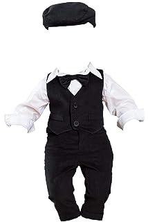 Soffi Kids Baby Taufanzug Festanzug Set Taufe Smoking Schwarz