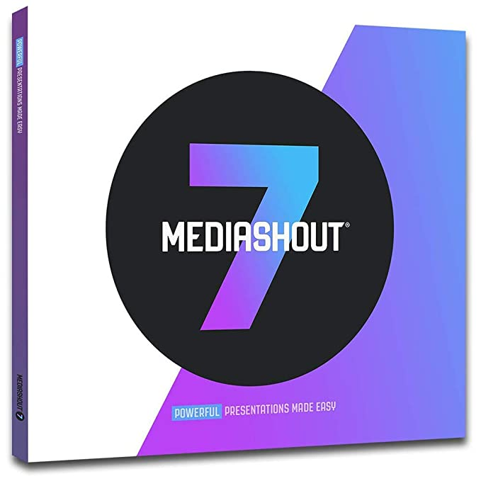 MediaShout 7 Worship and Ministry Presentation Software with Unlimited Site  License at Single Location (Windows)
