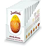 Honey Almond Butter Squeeze Packs by Justin's, Gluten-free, Non-GMO, Sustainably Sourced, Pack of 10 (1.15oz each)