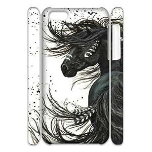 linJUN FENGHorse 3D-Printed ZLB535233 Custom 3D Phone Case for iphone 5/5s
