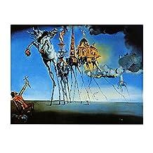 Posters: Salvador Dali Poster Art Print - La Tentation De St. Antoine (32 x 24 inches)