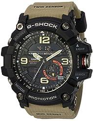 Casio Mens G SHOCK Quartz Resin Casual Watch, Color Beige (Model: GG-1000-1A5CR)
