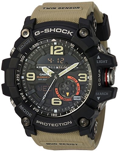 Casio Men's 'G Shock' Quartz Resin Casual Watch, Color:Beige (Model: GG-1000-1A5CR) ()