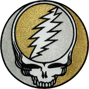 Application The Grateful Dead - Silver/Gold Glitter SYF Patc