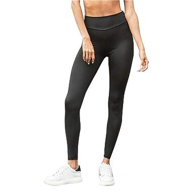 Yesmile Pantalones Yoga Medias Delgadas para Mujer, Algodón ...